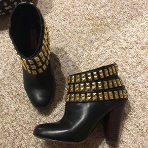 Betsey Johnson studded ankle booties